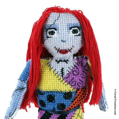 Original hand-made cross stitch doll (Sally)