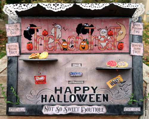 Not So Sweet Boutique (Halloween mixed media project)