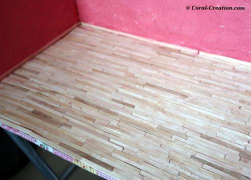Coffee stick wood floor