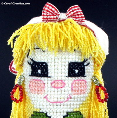Cross stitch doll : Emma the Magical Baker